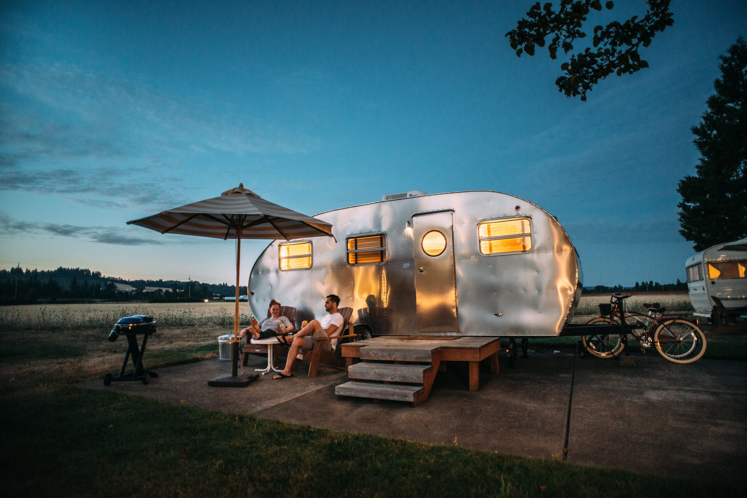 Camping in a travel trailer in canada